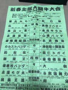 ♯2018.1.1新春北部大闘牛大会